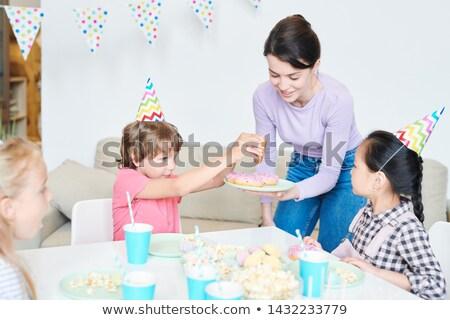 かわいい 少年 食欲をそそる ピンク ストックフォト © pressmaster