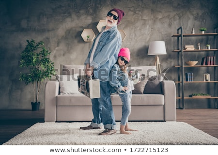 Hipster Grandfather with Music Box, Old People Stock photo © robuart