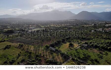 panoramica · view · bella · panorama · agricola · campi - foto d'archivio © amok