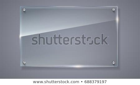 Stock photo: horizontal transparent glass template