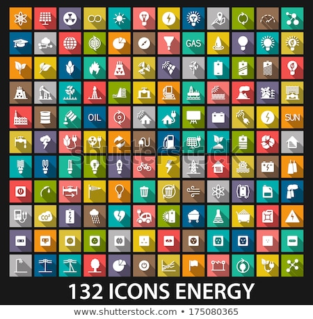 Nucleaire energie app interface sjabloon ingenieurs Stockfoto © RAStudio