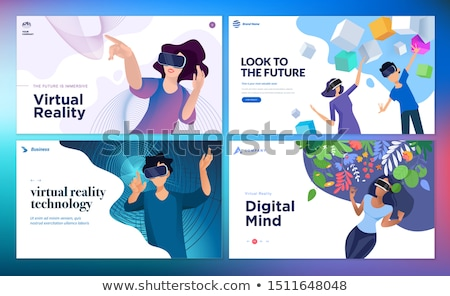 Artificial virtual reality business gaming Stock photo © frimufilms