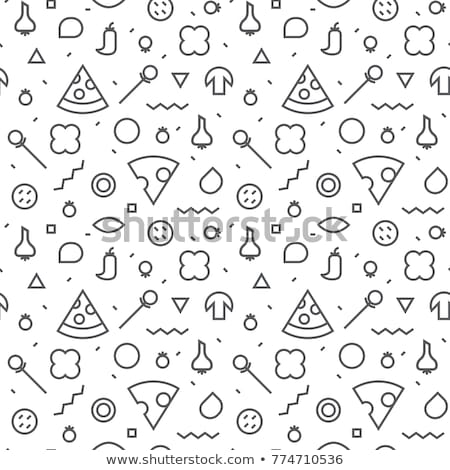 seamless pattern color pizza with shrimp stock photo © netkov1