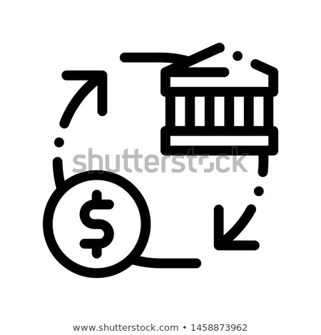 Monetisation Coin Cash Bank Vector Thin Line Icon Stock photo © pikepicture