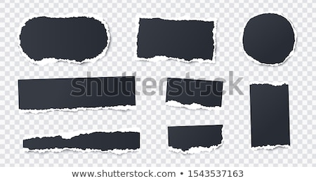 set of round rectangular black and colour frames stock photo © robuart