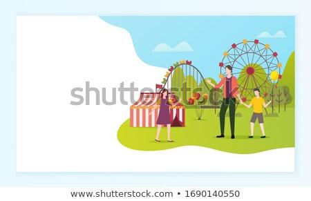 歓迎 遊園地 ウェブ 文字 ベクトル ストックフォト © robuart