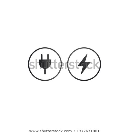 charger wall plug and lightning charging icon. charger sign for web and app.vector illustration isol Stock photo © kyryloff