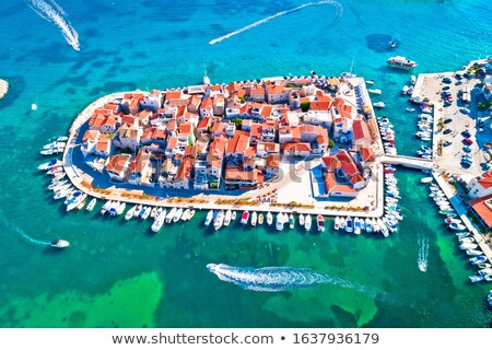 town of tribunj on small island aerial view stock photo © xbrchx