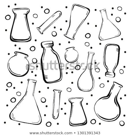 Potion Bottles Color Collection Set Vector Stock photo © pikepicture