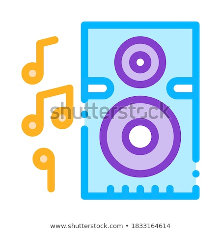 Musical dynamisch luisteren vector icon Stockfoto © pikepicture