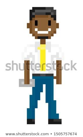 ピクセル · 芸術 · ゲーム · デザイン · ビット · スタイル - ストックフォト © robuart
