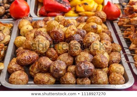Tatlı patates tepsi görmek ahşap Stok fotoğraf © nito