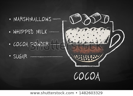 Chalked cocoa with marshmallows recipe Stock photo © Sonya_illustrations
