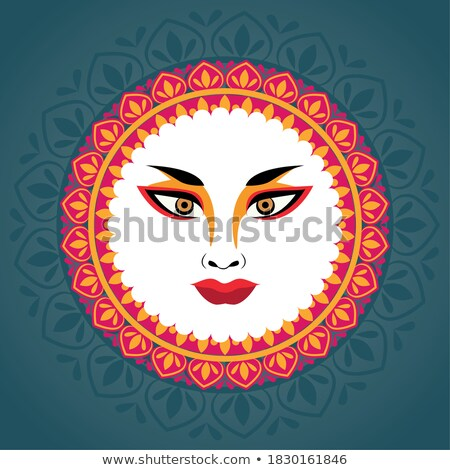 Plakat projektu bogini mandala ilustracja tle Zdjęcia stock © bluering