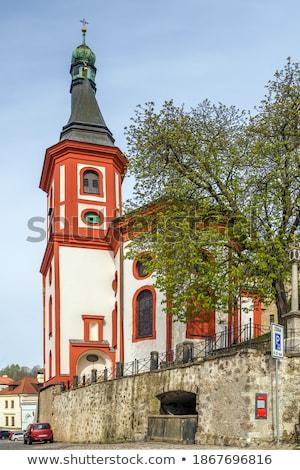 Romana cattolico chiesa Repubblica Ceca cielo costruzione Foto d'archivio © borisb17