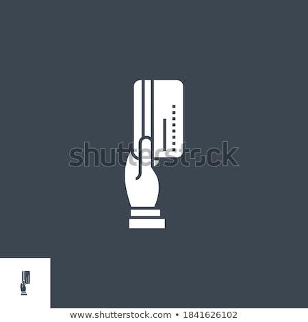 Hitelkártya illetmény vektor ikon izolált fehér Stock fotó © smoki