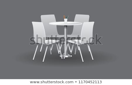 Table and Chairs, Cafe Furniture, Dining Vector Stock photo © robuart