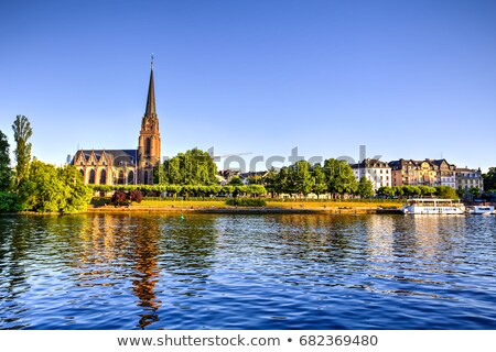 Waterfront of Main River in Frankfurt Stock photo © manfredxy