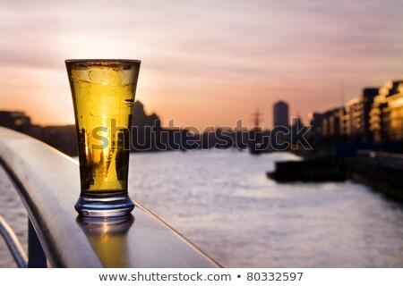 パイント ビール ダブリン スカイライン 冷たい ストックフォト © Eireann