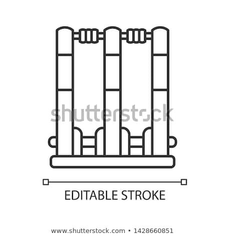 Icon vector schets illustratie teken geïsoleerd Stockfoto © pikepicture