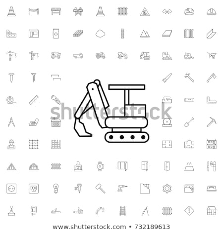 excavator icon vector outline illustration Stock photo © pikepicture