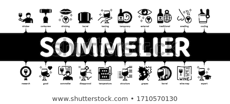 Sommelier Wine Tasting Minimal Infographic Banner Vector Stock photo © pikepicture