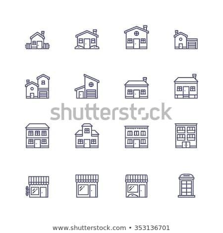 Berber alışveriş Bina ikon örnek Stok fotoğraf © pikepicture