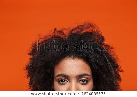 Yarım portre genç Afrika kadın Stok fotoğraf © deandrobot
