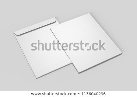 üres papír boríték vázlat 3d illusztráció izolált fehér Stock fotó © montego
