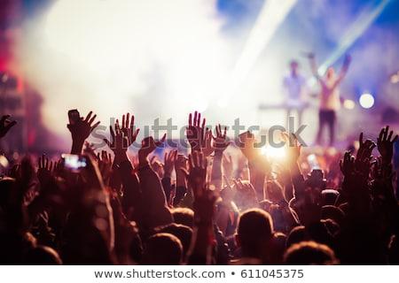 Kaya konser müzik gitar eller müzisyen Stok fotoğraf © olira