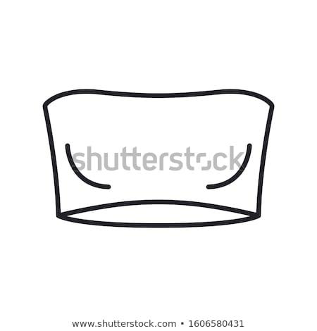бюстгальтер икона вектора иллюстрация знак Сток-фото © pikepicture