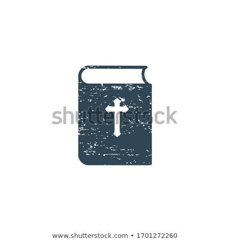 Biblia libro icono grunge efecto sociedad Foto stock © kyryloff