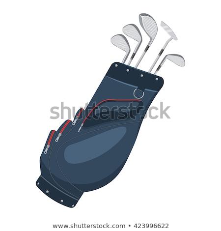 гольф-клубов сумку мяча оборудование вектора иллюстрация Сток-фото © yupiramos