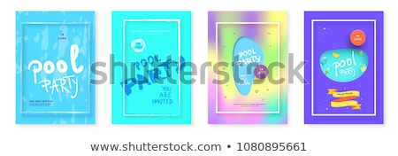 Pool Party Creative Promo Brochure Banner Vector Stock photo © pikepicture