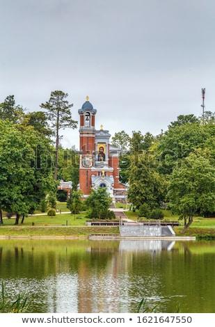 Kaplica grób Białoruś zamek kompleks lata Zdjęcia stock © borisb17