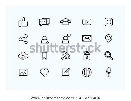 Community, network and social icon Stock photo © Ggs