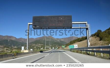 Македонии шоссе знак зеленый облаке город улице Сток-фото © kbuntu