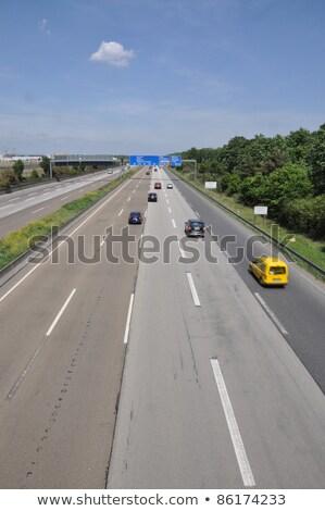 Мэн шоссе знак зеленый США облаке улице Сток-фото © kbuntu