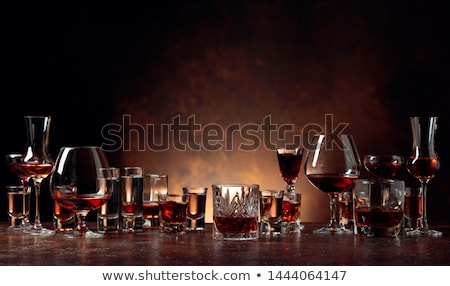 Glass of liquor Stock photo © Koufax73