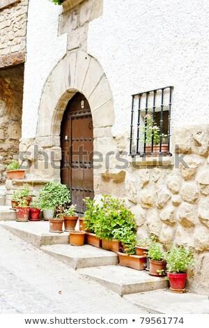 道路 サンティアゴ スペイン アーキテクチャ 歴史 ゲート ストックフォト © phbcz