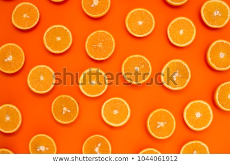 Set of fresh orange fruits Stock photo © alrisha