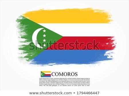 Сток-фото: Коморские · острова · Гранж · флаг · старые · Vintage · гранж · текстур