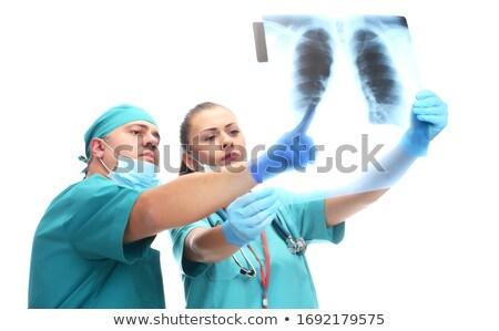 女性 看護 優しい 笑顔 立って ストックフォト © RandallReedPhoto