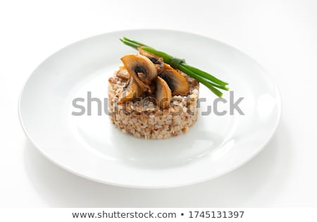 Meat with a mushrooms Stock photo © maknt