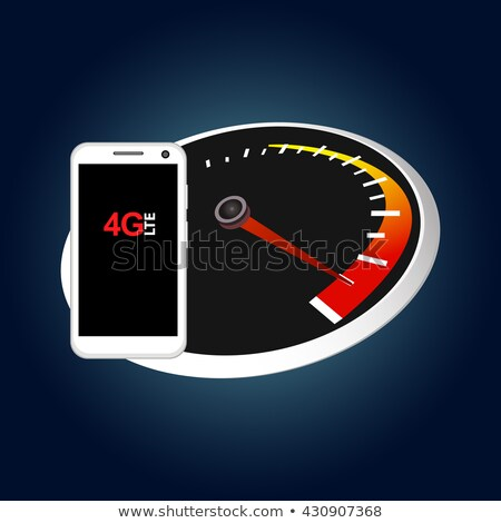 smartphone displaying the speed of 4g. Stock photo © dacasdo
