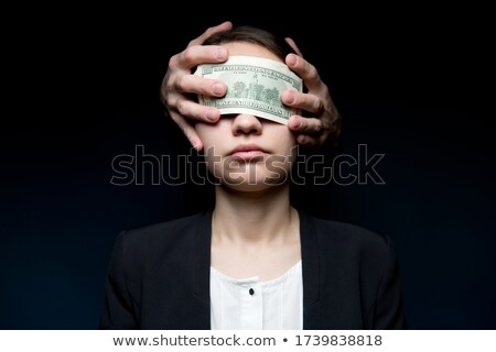mulher · de · negócios · cego · lata · não · ver · mulher - foto stock © silent47
