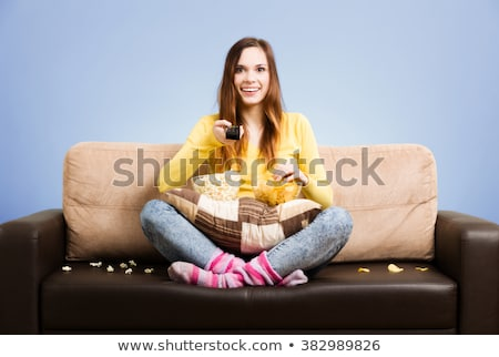 Grand surprise tv affaires papier télévision Photo stock © dacasdo