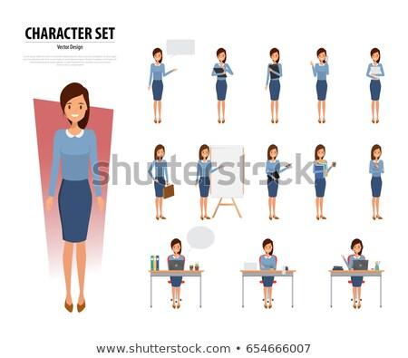 business woman holding portfolio Stock photo © marylooo