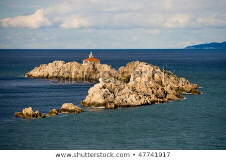 Dubrovnik Croazia faro rock Foto d'archivio © Kacpura