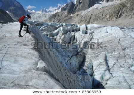 mer de glace   mont blanc stock photo © antonio-s
